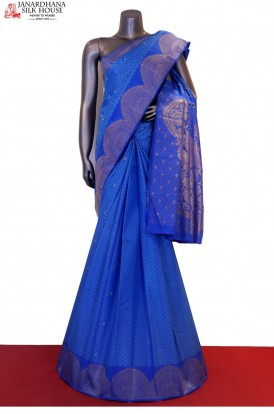 Designer Turning Zari Kanjeevaram Silk Saree