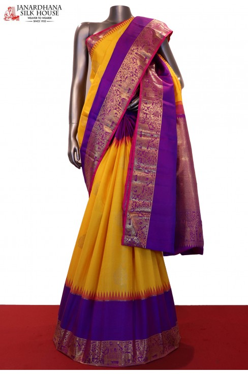 Exquisite & Grand Wedding Kanjeevaram Silk Saree