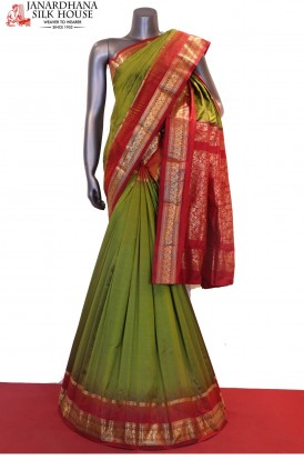 AF202776-Traditional & Contrast Classic Pure South Silk Saree