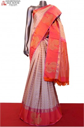 Designer & Grand Peacock Handloom Kanjeevaram Silk Saree