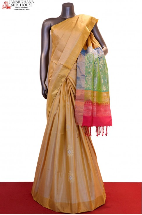 AF202826-Exclusive & Designer Hand Woven Pure Soft Silk Saree