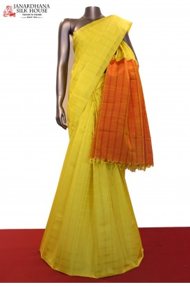 Checks Kanchipuram Silk Saree