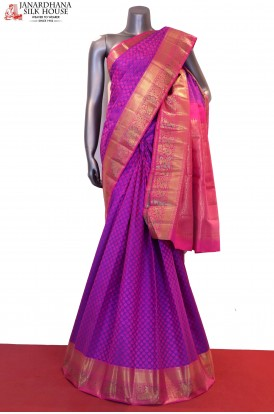 Traditioanl Meenakari Wedding Handloom Kanjeevaram Silk Saree