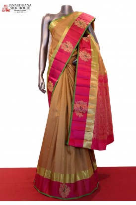 Designer Peacock & Exclusive Handloom Kanjeevaram Silk Saree