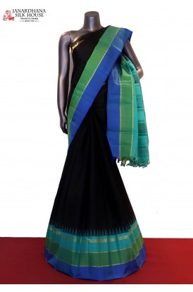 Exclusive Black Handloom Kanjeevaram Silk Saree