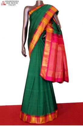 AF203253-Traditional & Classic Contrast Temple Kanjeevaram Silk Saree