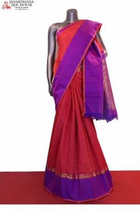 Traditional & Contrast Wedding Handloom Kanjeevaram Silk Saree