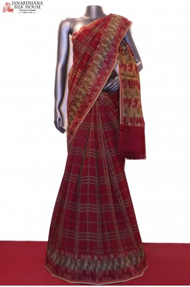 AF203834-Handloom Pure Chanderi Cotton Saree