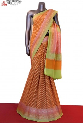 Exclusive Handloom Banarasi Georgette Silk Saree