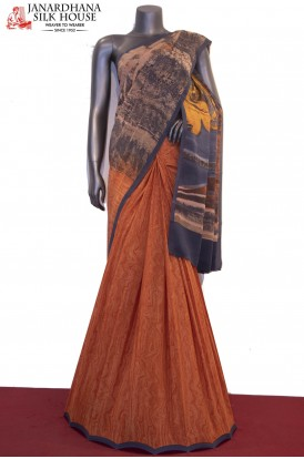 Exclusive & Finest Quality Abstract Prints Pure Patli Crepe Silk Saree