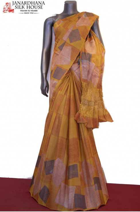 Exclusive Prints Pure Tussar S..