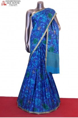 Exclusive Floral Prints Pure Crepe Silk Saree