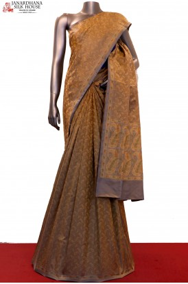 Master Weave & Exclusive Satin Jamawar / Tanchoi Silk Saree-Two Tone
