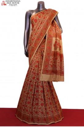 Floral Prints Pure Printed Silk Saree