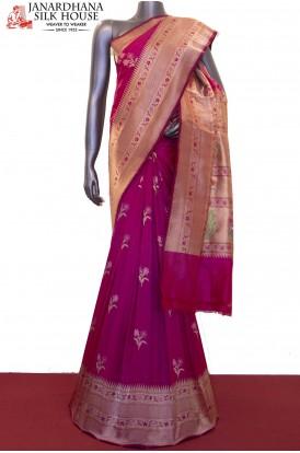 Exquisite & Designer Meenakari Wedding Banarasi Silk Saree