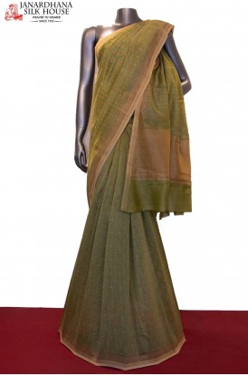 AF205429-Handloom Pure Chanderi Cotton Saree