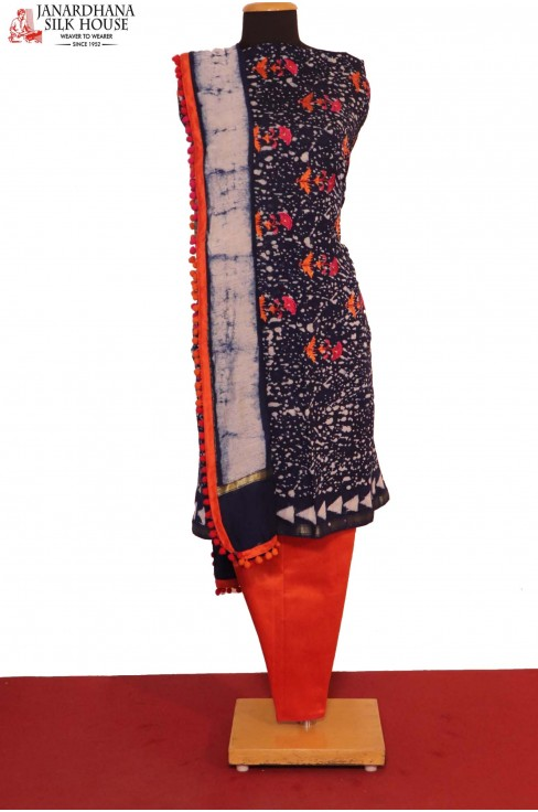 Exclusive Printed & Embroidery  Pure Cotton Suit