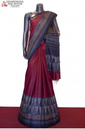 Exclusive Prints & Handloom Pure Tussar Silk Saree