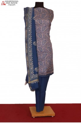 AF206252-Exclusive Printed Pure Cotton Suit