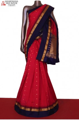 Traditional Wedding & Contrast Pure South Silk Saree