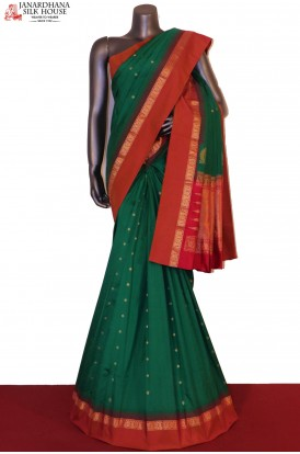 AF206277-Traditional Wedding & Contrast Pure South Silk Saree
