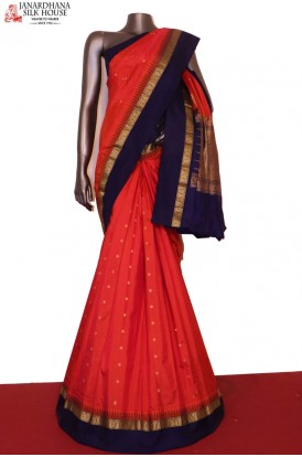 AF206279-Traditional Wedding & Contrast Pure South Silk Saree