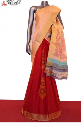 Designer Patli Handloom Pure Soft Silk Saree