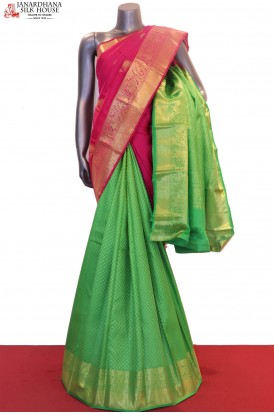 Designer & Exclusive Patli Kanjeevaram Silk Saree