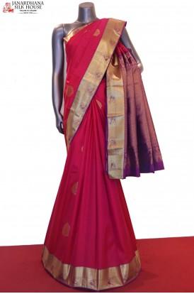 AF206811-Classic Wedding Kanjeevaram Silk Saree