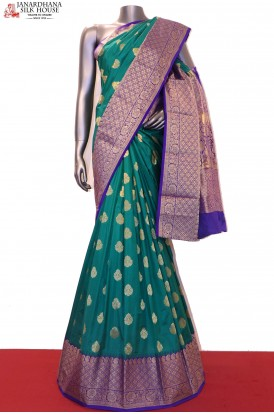 Exclusive & Grand Contrast Wedding Pure South Silk Saree