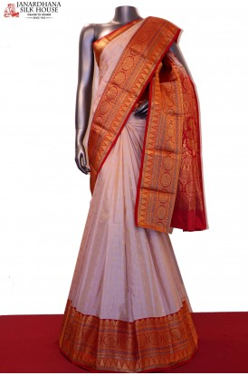 AF207575-Exclusive & Grand Wedding Classic Pure South Silk Saree