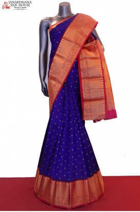 Exclusive & Contrast Pure South Silk Saree