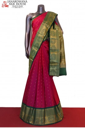 Contrast Exclusive Grand Wedding Pure South Silk Saree