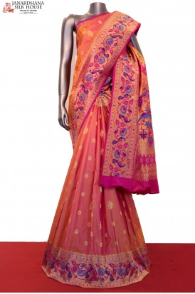 AF207626-Exclusive Paithani & Meenakari Grand Pure South Silk Saree