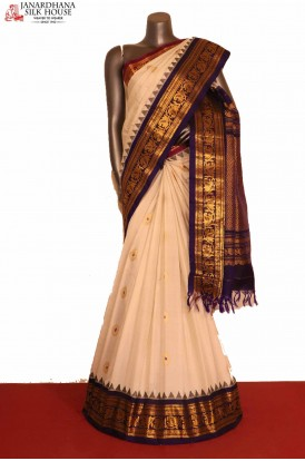 Traditional & Ganga Jamuna Handloom Pure Gadwal Silk Saree