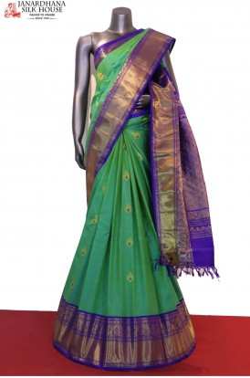 Grand Meenakari Exclusive Handloom Pure Gadwal Silk Saree