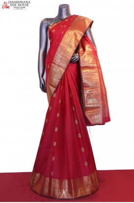 Peacock & Chakram Classic Wedding Kanjeevaram Silk Saree