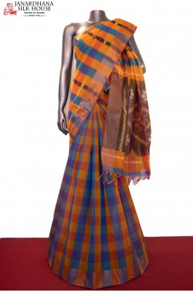 Pochampally & Checks Art Saree