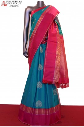 AF209941-Two Tone Traditional Kanchipuram Silk Saree