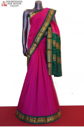 Peacock & Contrast Classic Pure South Silk Saree