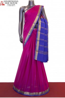 AF210643-Contrast & Traditional Pure Mysore Crepe Silk Saree