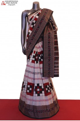 Exclusive MasterWeave Handloom Pure Ikat Orissa Silk Saree