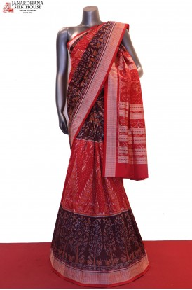 MasterWeave  & Exclusive Handloom Pure Ikat Orissa Silk Saree