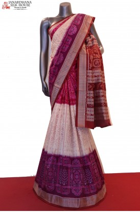 MasterWeave  & Exclusive Handloom Pure Ikat Orissa Silk Saree