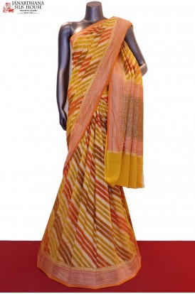 Designer & Exclusive Handloom Banarasi Georgette Silk Saree