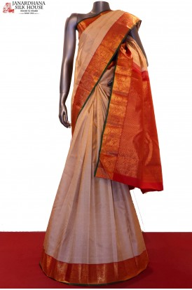 Bridal Master Weave Exclusive Contrast Kanjeevaram Silk Saree
