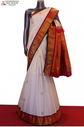 Exclusive Contrast & Grand Bridal Handloom Kanjeevaram Silk Saree