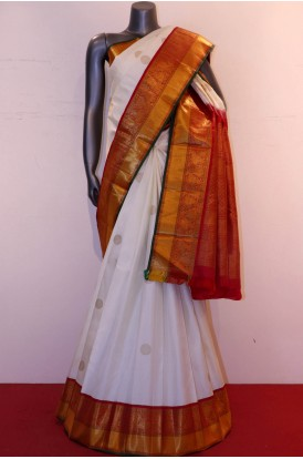 Exclusive Bridal & Contrast Classic Handloom Kanjeevaram Silk Saree
