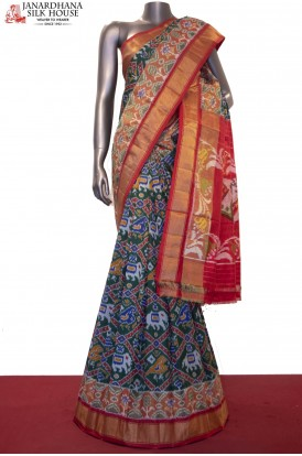 Exquisite & Grand MasterWeave  Handloom Pure Ikat Patola Silk Saree