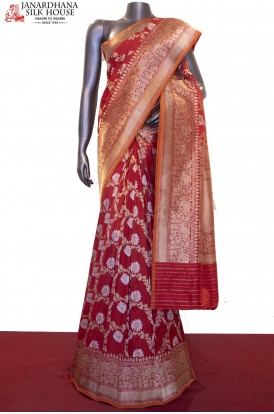 AF211242-Exquisite & Designer Grand Banarasi Silk Saree-Master Weavers Collections